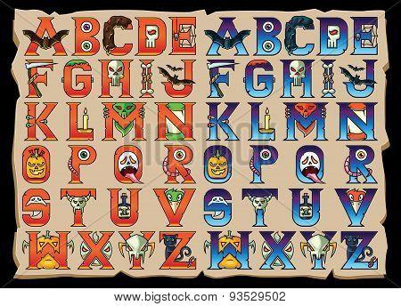 Halloween Alphabet Letters Set