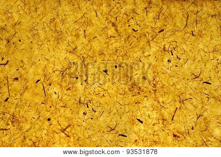 Yellow Orange Gold Amber Citrine Color Mulberry Handmade Paper Background