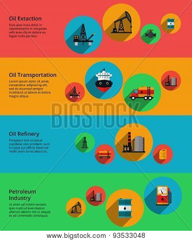 Oil vector, petrolium industry, production transportation and processing