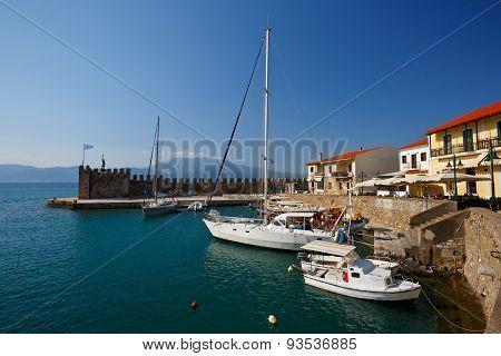 Harbour in Nafpaktos.