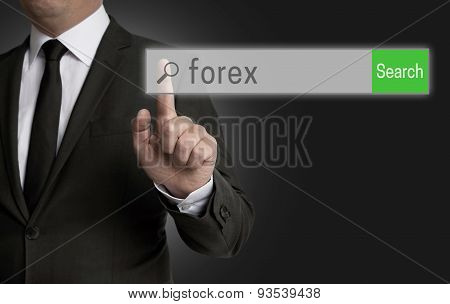 Forex Internet Browser Is Operated By Businessman