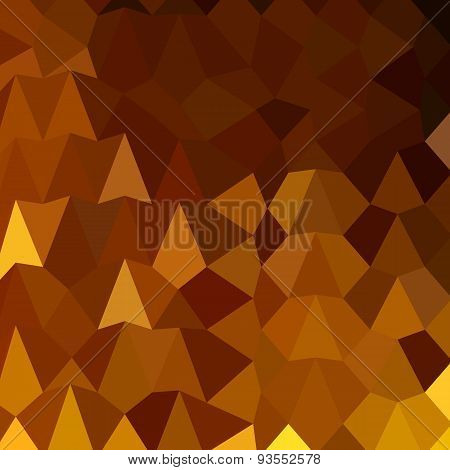 Burnt Umber Brown Abstract Low Polygon Background