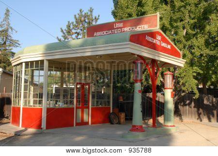 Vintage Gas Station.