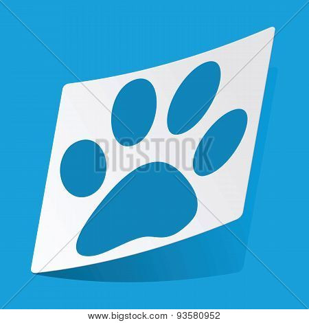 Paw sticker