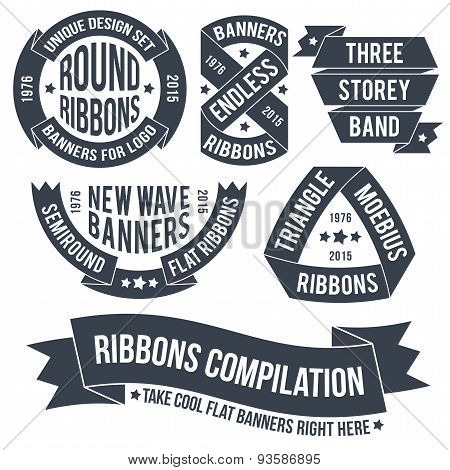 ribbons and banners for emblems