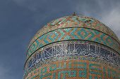 the 14th century Allah Allah tower of the Safavid Sheikh Safi mausoleum in Ardabil, Iran poster