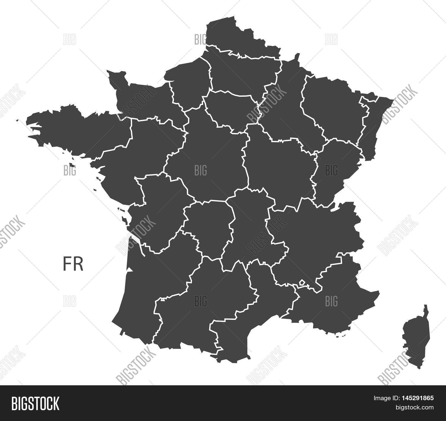 France Map With Regions.France Map Regions Vector Photo Free Trial Bigstock