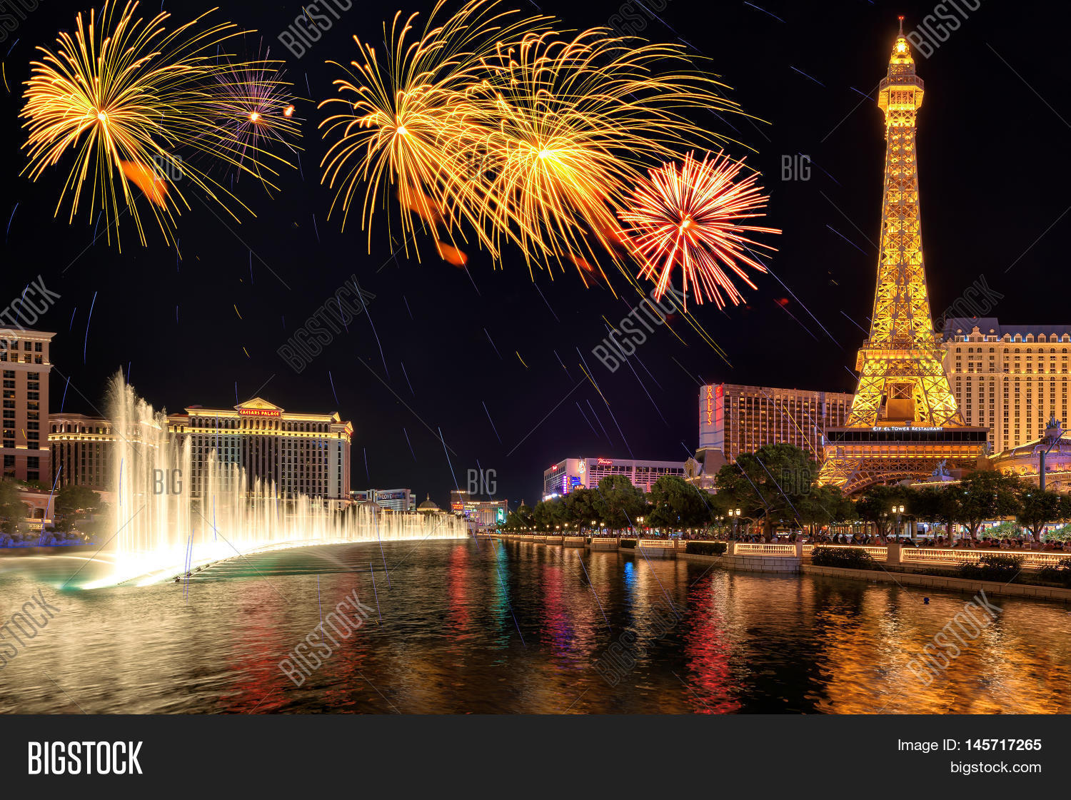 fireworks fountains image & photo (free trial) | bigstock