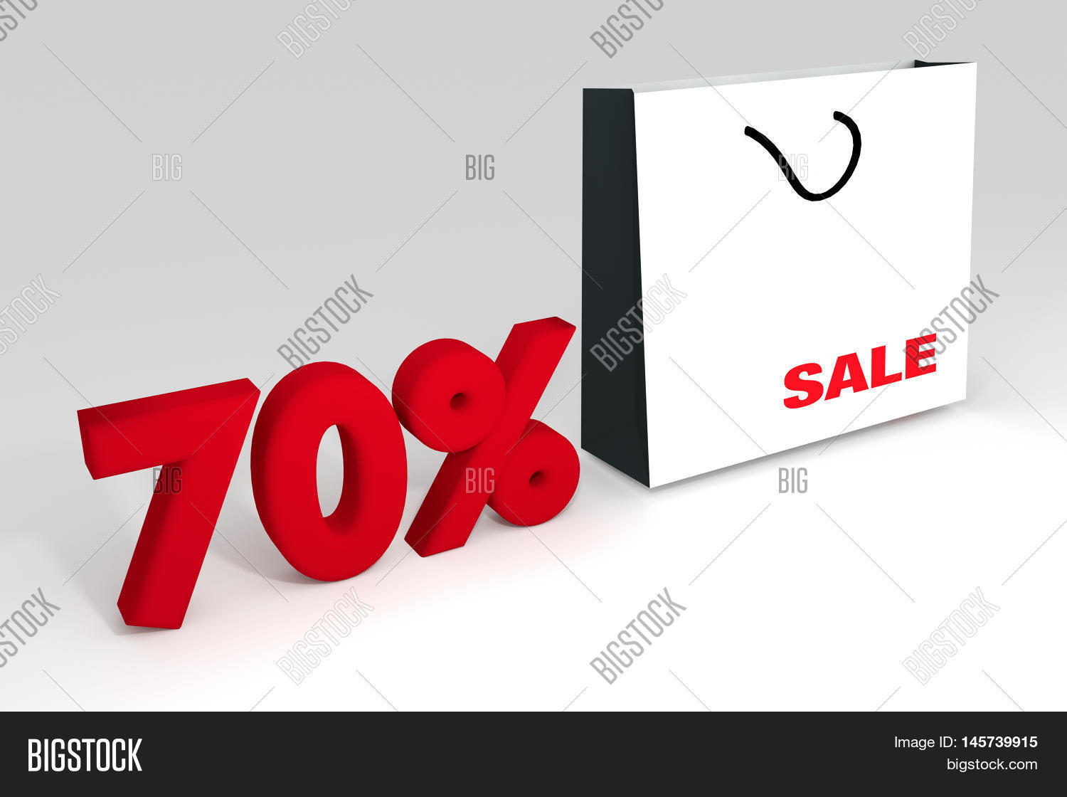 53b38d8a48b 70% sale off promotion for product selling,white shopping bag and text