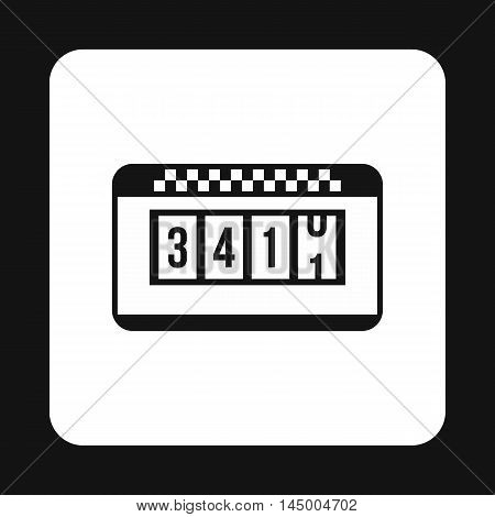 Taximeter icon in simple style isolated on white background. Transportation symbol