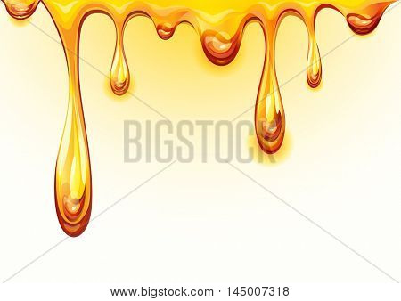The raster version drops honey. Orange juice background.