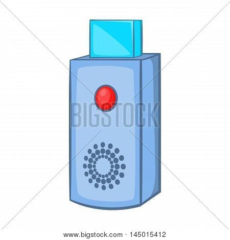USB flash drive icon in cartoon style on a white background