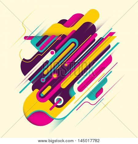 Modern style illustration with abstract composition. Vector illustration.