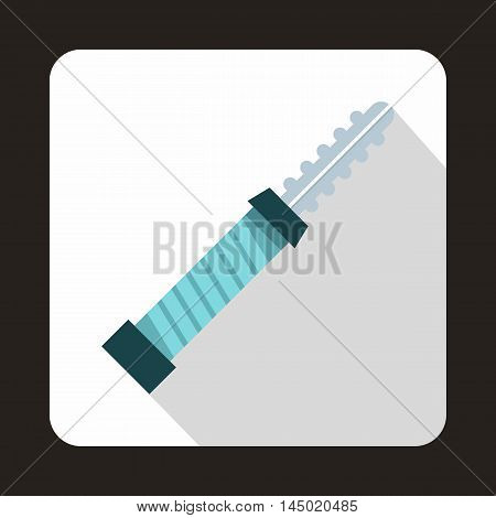 Electronic cigarette cartridge icon in flat style on a white background