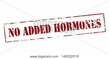Rubber stamp with text no added hormones inside vector illustration