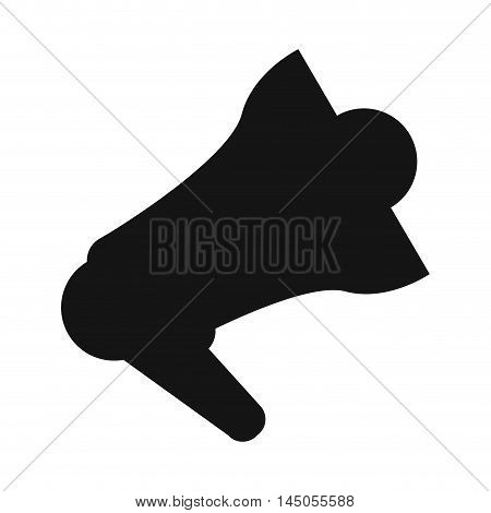 megaphone amplifer announce speech message silhouette icon. Flat and isolated design. Vector illustration