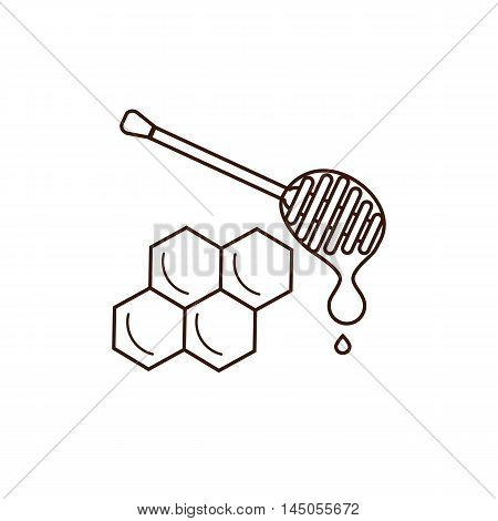 Honey product icon. Honey product vector symbol. Outline style honey product icon. Mead product illustration. Vector illustration of honey product icon for your design