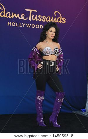LOS ANGELES - AUG 30: Selena wax figure as 'Madame Tussauds Hollywood unveils a wax figure of Selena Quintanilla' at Madame Tussauds on August 30, 2016 in Los Angeles, CA