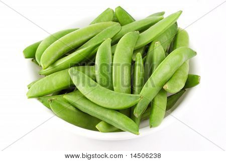 Bowl Of Fresh Snow Peas