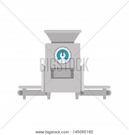 metal scale commercial weight balance measurement industry tool vector illustration