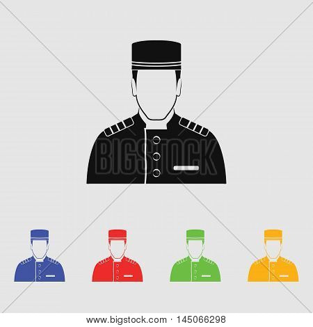 Bellboy  Vector Icon for web and mobile