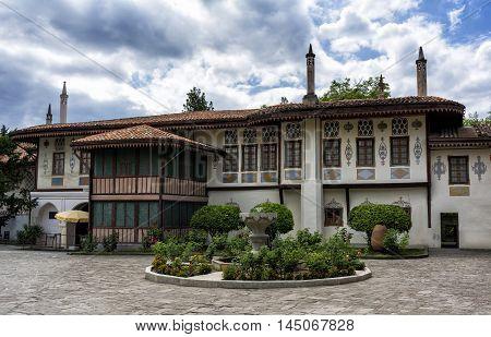 Khan's palace in Bakhchisarai. The Crimea. Stock photo
