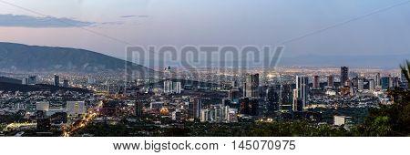 Monterrey. Mexico Cityscape Skyline Landmark Panorama