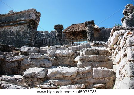 The Coba - Ruins Of The Mayan City In Mexico.