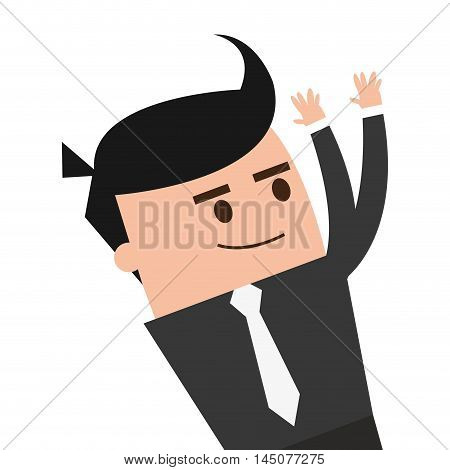 businessman man male cartoon worker proffesional icon. Flat and isolated design. Vector illustration