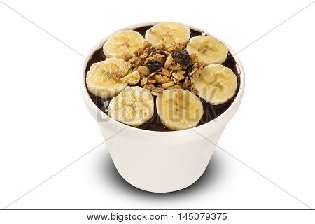 Acai Cup. Brazilian Famous Fruit From Amazon.