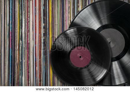 Vinyl Record Withf A Collection Of Albums