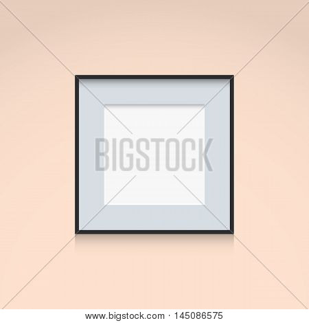Photo Frame Interior Decoration Template Square Shape