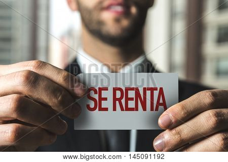 For Rent (in Spanish)