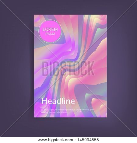 Bright Holographic abstract background. Applicable for covers, placards, posters, flyers and banner designs. A4 fromat,eps10 vector templates.