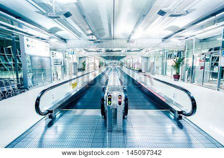 Modern Airport Terminal.