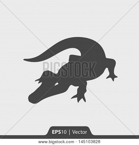 Alligator Vector Icon For Web And Mobile
