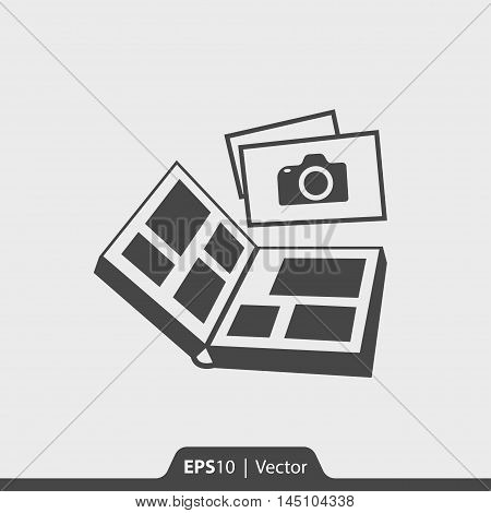 Photo Album Vector Icon For Web And Mobile