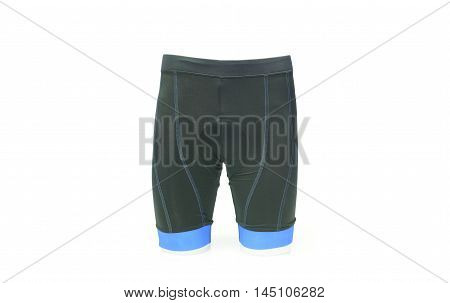 a bike shorts with a chamois pad for comfortable riding in blue color