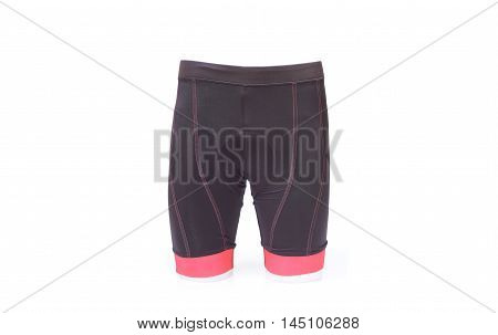 a bike shorts with a chamois pad for comfortable riding in pink color