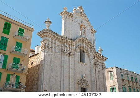Perspec tive of the Cathedral of Molfetta. Puglia. Italy.