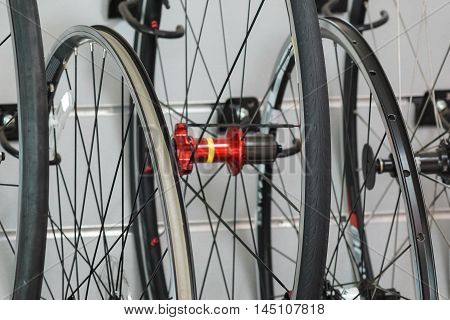 Road bike wheel / Bicycle spare part and maintenance concept