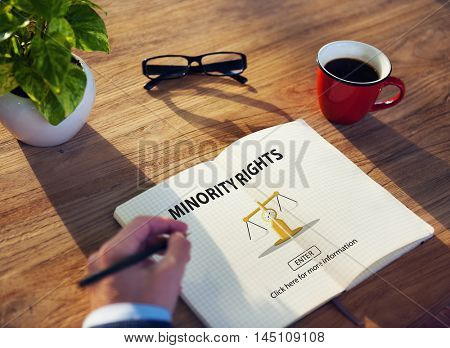 Law Judgement Rights Weighing Legal Concept