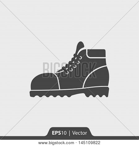 Leather Boots Vector Icon For Web And Mobile