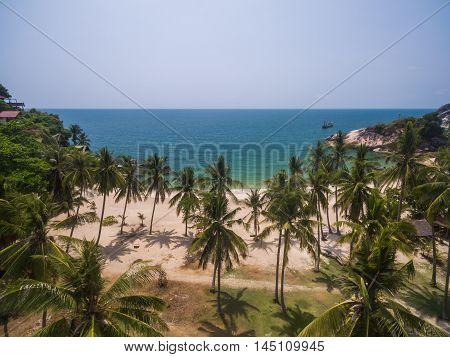 the beach with a bird's eye view on Koh Phangan