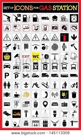 Very useful and usable set of icons for gas station and other services on the road.