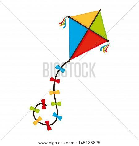 kite wing festival fun isolated vector illustration eps 10