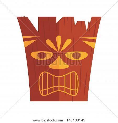 carved hawaiian tiki design vector illustration eps 10