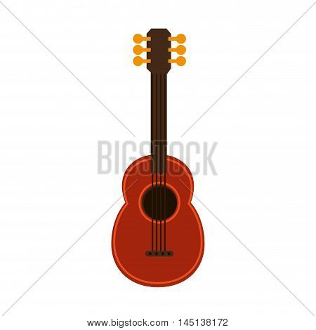 ukelele guitar music hawaiian vector illustration eps 10