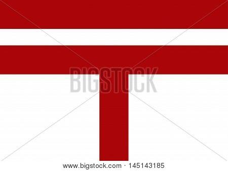 Vector of Japanese cultural flag of postal flag. Vector illustration flag design.