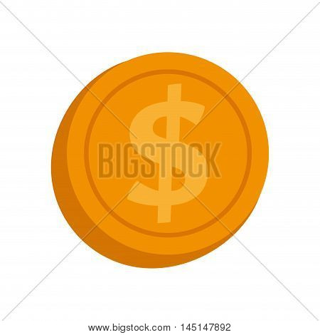 currency coin money isolated vector illustration eps 10